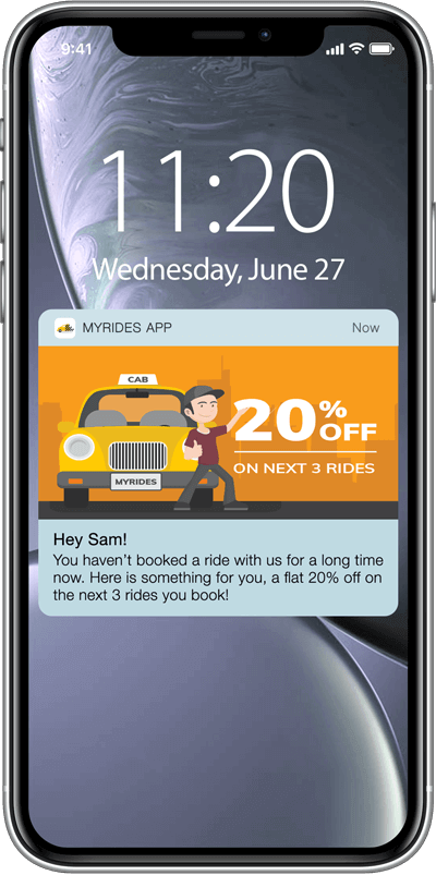 Nudge users to launch the app with a push notification