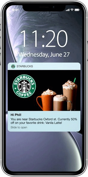 Location based personalized push notifications