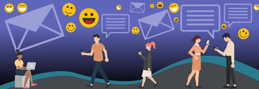 use of emojis in app push notification campaigns