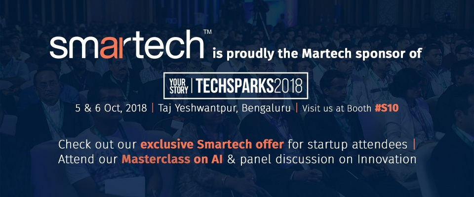 We're going to be at TechSparks 2018, in namma Bengaluru! Come see us there!