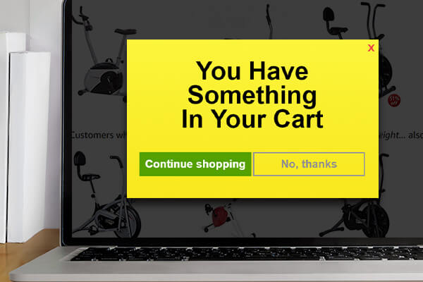 Web message to reduce cart abandonment rate