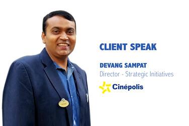 Walk The Talk with Devang Sampat, Director – Strategic Initiatives, Cinepolis India