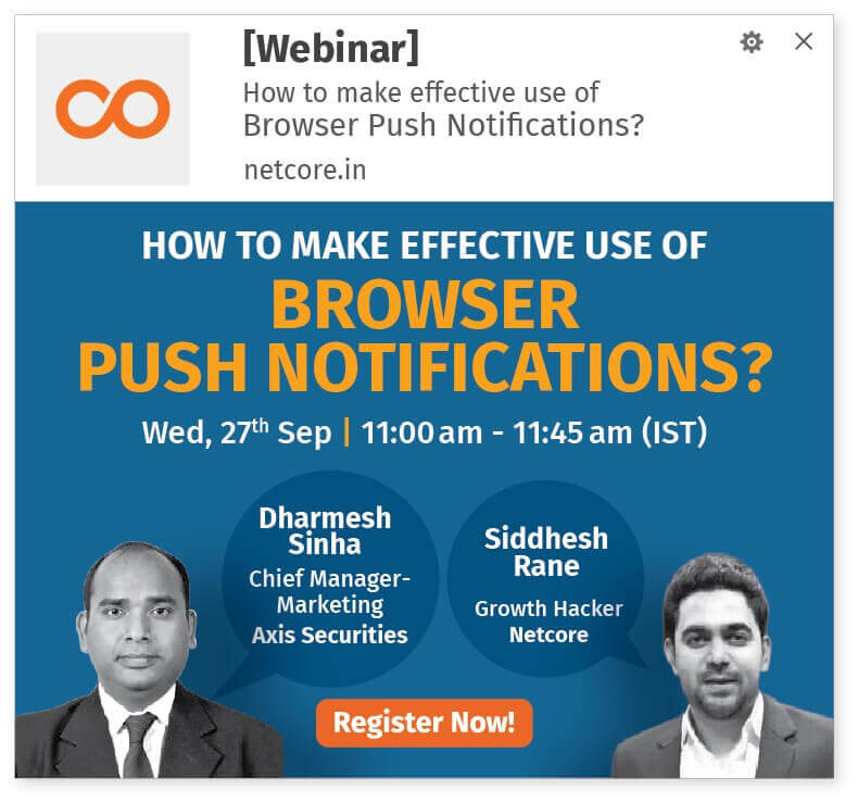 Increase webinar registrations with browser push notifications