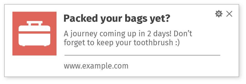 Reminder web notifications