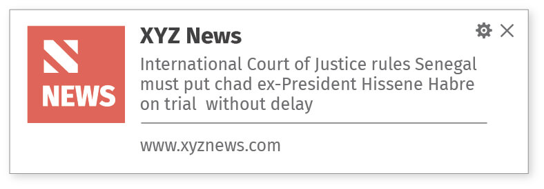 Web notification for latest news