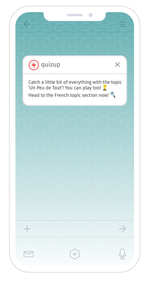 QuizUp iOS app notifications