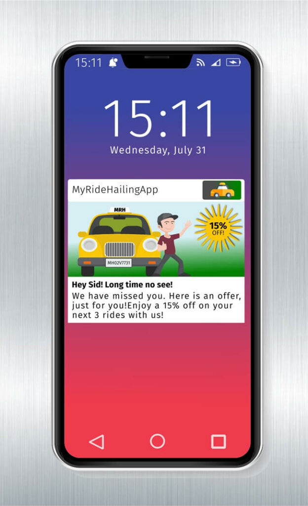 Re-engage dormant users with push notifications
