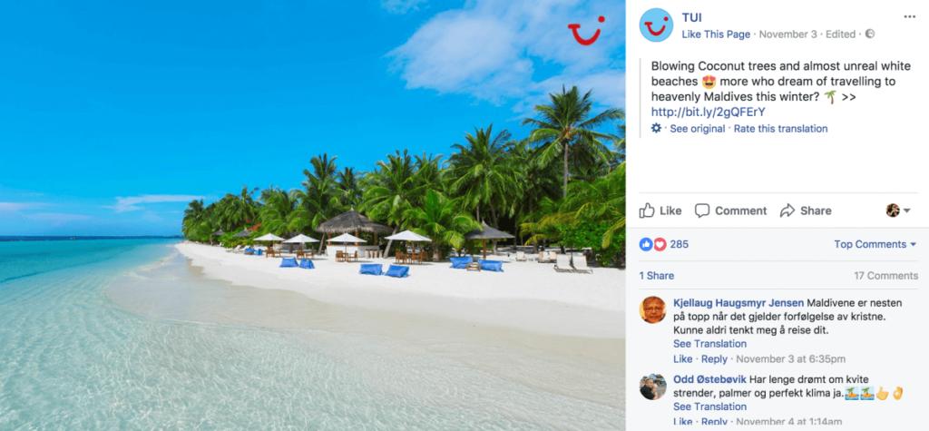 TUI Facebook Feed