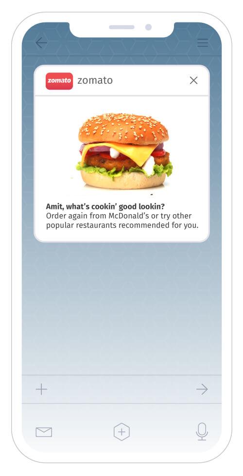 Zomato iOS push notifications