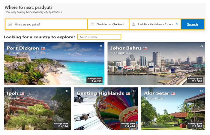 Travel Home Page Recommendation