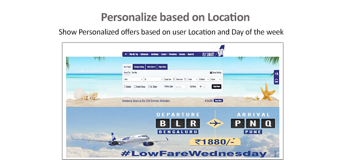 Personalization based on location