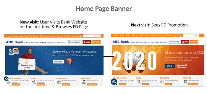 Personalized Home Page banner