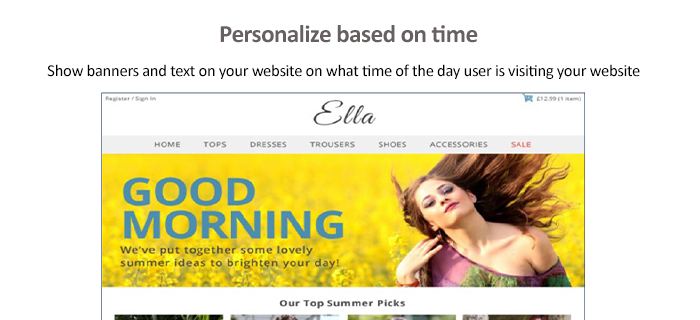 Personalization based on time