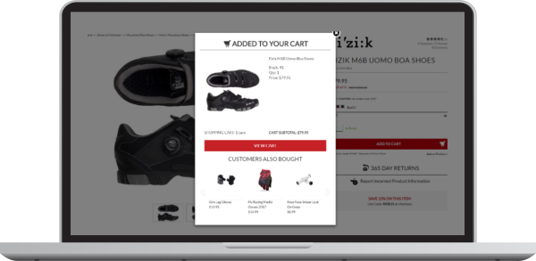 An example of personalized shopping cart