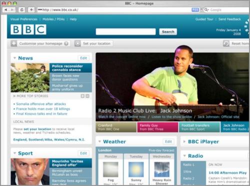 Sample of Website Personalization